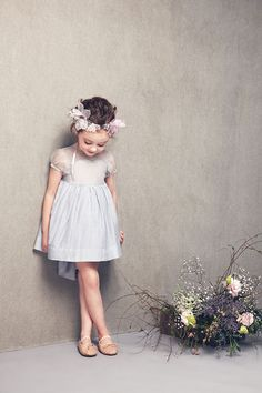 Garden wedding flower girl .
