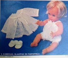 Sarie Handwerk, Somer uitrusting vir 'n First Love Pop / doll. Numbers 5 Kamerjas, slaappak en pantoffels. Patterns in Afrikaans. Use coupon to obtain English copies.