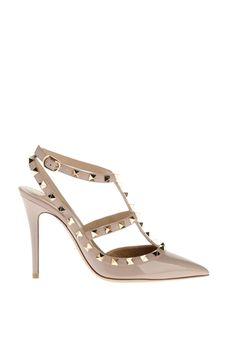 6b7e83154fdf2f Boutique en ligne Valentino - Chaussure Rockstud à Bride Cheville Femme  Valentino Escarpins À Bride,
