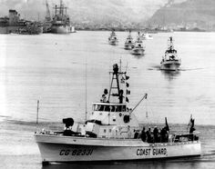 US Coast Guard's cutters begin the journey to South Vietnam from the Philippines, July, 1965.