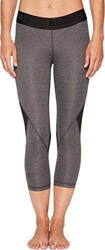 adidas Women s Alphaskin Sport 3 4 Tights Dark Grey Heather X-Small  fashion 0e21f708b12