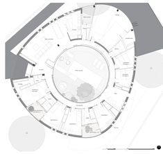 Image 34 of 39 from gallery of Oyster House / Ana Lozano Portillo. Distribution and furniture plan Archdaily Mexico, Layout, Round House, Concept Architecture, Architect Design, House Plans, How To Plan, Gallery, Theatres