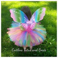 Rinbow butterfly tutu butterfly tutu dress by CaitlinsTutusandBows