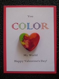 Valentine's Day idea with melted crayons