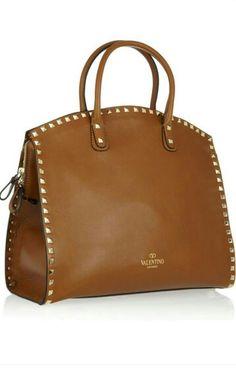 Valentino Rockstud Dome leather tote