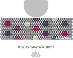 peyote ring pattern,PDF-Download, #077R, beading pattern, beading tutorials, ring pattern