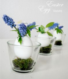Living In: Easter Egg vases