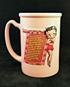 Betty Boop Coffee Mug Cup Pink 16 Oz. Kind Features Syndicate USA Seller #KingFeaturesSyndicate