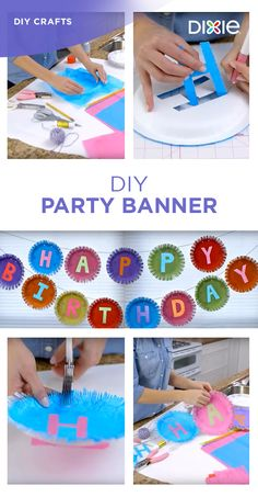 These festive banners will give your next party the DIY touch. Find out how you can transform Dixie® paper plates into a one-of-a-kind party banner.