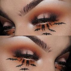 WEBSTA @ janeenersss - oh ya know, just your everyday fall makeup look for my spooky peeps☺️ DETAILS: @morphebrushes 35O palette, @sugarpill flamepoint eyeshadow, the @limecrimemakeup Venus ll palette, and Matt Malloy eyeshadow from @thebalm_cosmetics. Lashes are @slaylashes supermodel. Bats were drawn using the best eyeliner ever to touch my face, @katvondbeauty tattoo liner. #thebalm #slaylashes #morphebrushes #katvondbeauty #katvond #tattooliner #eotd #halloween #halloweenmakeup #sug...