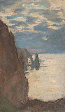 Claude Monet - Falaise d'Etretat Aval- Pastel v1890.jpg