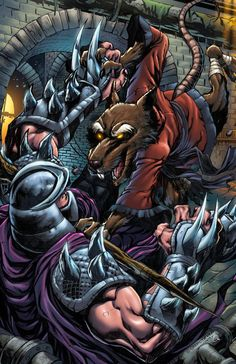 Splinter vs Shredder by PROSSCOMICS on Etsy, $10.00