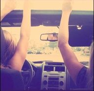 Drivin' with the music on High<3