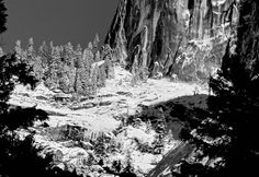 """Lower section of Half Dome"" from In Ansel Adams Footsteps: My B & W Experience in Yosemite NP"