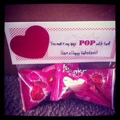 DIY ring pop valentine!