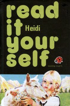 HEIDI Ladybird Book Read It Yourself Series 777