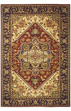 8.3x11 $572 Also at Home Decorators! (Provence rug)  $5 Off when you share! Safavieh Heritage Heritage Garden HG625A Red Rug | Traditional Rugs #RugsUSA