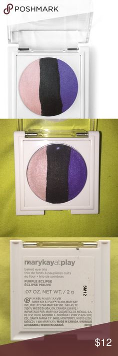 NWOT Mary Kay Baked Eye Trio This is a authentic Mary Kay baked eye trio. These colors are absolutely beautiful, I just never wear eyeshadow. The three colors are light pink, black, and purple. I have never used this and it has never been swatched. If you have questions please ask! Urban Decay Makeup Eyeshadow