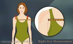 Nancy Zieman's Right Size Measurement for Fitting Patterns. How to measure the front width measurement.