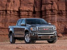 With a design that's markedly different from its sibling, the 2015 Chevrolet Colorado, the all-new midsize 2015 GMC Canyon took to the stage at the 2014 North A Chevrolet Colorado, Gmc Trucks, Cool Trucks, Pickup Trucks, Gmc Pickup, Buick Gmc, Chevrolet Silverado, Canyon Truck, Trucks