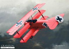 Manfred von Richthofen, The Red Baron's plane, the Fokker Dr.1 tri-plane.  ts twin, synchronized 8mm Spandau machine guns were standard firepower for the era.  The Red Baron was credited with 80 kills.