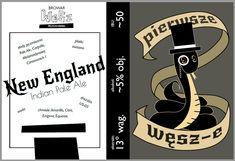 Illustrator CS6 - projekt etykiety stworzony dla pierwszego piwa uważonego przez znajomych.