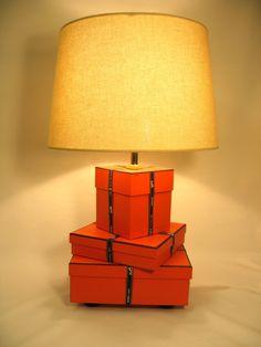 Hermes, Hermes Lamp, Orange Lamp, Hermes Gift Boxes and Ribbon, Hermes box, Silk Lamp Shade on Etsy, $415.24 AUD