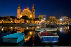 Msida, Malta - The nightlife beside this bay was awesome.