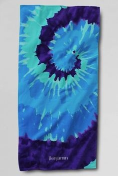 Kids' Swirl Tie Dye Beach Towel from Lands' End