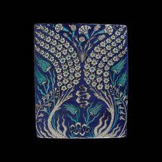 Carreau aux tiges fleuries ondulantes Turquie, vers 1550-1560
