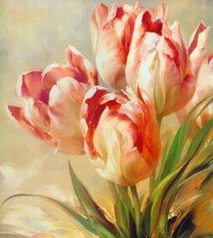 Afbeeldingsresultaat voor tulips painting
