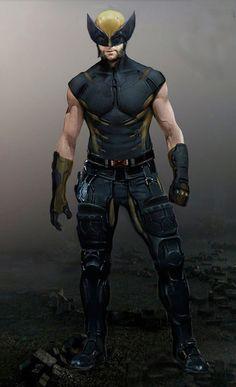 "Concept art of Wolverine from ""X-Men: Days of Future Past"" Wolverine Costume, Wolverine Art, Logan Wolverine, Super Marvel, Marvel Dc Comics, Marvel Heroes, Comic Book Characters, Marvel Characters, Comic Character"