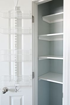 55organized Linen Closet Elfa Baskets And Storage Over The Door Rack Great Ideas