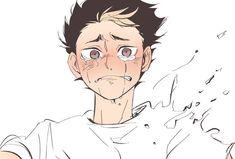 Haikyuu Nishinoya, Manga Haikyuu, Manga Anime, Haikyuu Funny, Haikyuu Fanart, Sad Anime, Anime Demon, Kagehina, Haikyuu Characters