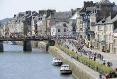 Bretagne, France with the Tour de France peloton marching through #TdF
