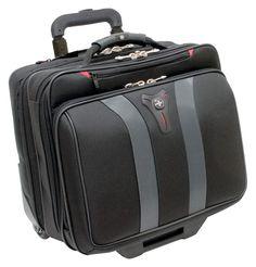 Wheeled Laptop Pilot Trolley Suitcase Carry Case Cabin Bag Wheel Handle Black  #WheeledLaptopPilotTrolley