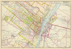 old maps, restored maps, vintage map, albany map