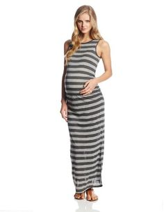 Three Seasons Maternity Women's Sleeveless Stripe Maxi Dress, Black/Grey, Small Three Seasons Maternity http://www.amazon.com/dp/B00HR17EEU/ref=cm_sw_r_pi_dp_3fFmub06Y1K31