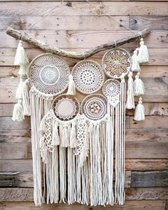 Dream catcher, catches dreams, macrame, headboard, made to measure in . Doily Dream Catchers, Dream Catcher Decor, Dream Catcher Boho, Big Dream Catchers, Doily Art, Macrame Wall Hanging Patterns, Diy Tumblr, Christmas Crafts For Kids To Make, Deco Boheme