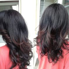 Layered haircut long hair
