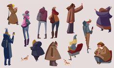 People from the subway, Slawek Fedorczuk on ArtStation at https://www.artstation.com/artwork/JzVyA