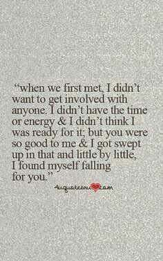 Love Quotes : Cute Falling In Love Quotes For Him - Quotes Sayings Now Quotes, Free Quotes, Love Quotes For Him, Quotes To Live By, Love Is Scary Quotes, Fallen For You Quotes, Cute Quotes For Your Crush, Falling Out Of Love Quotes, Finding Love Quotes