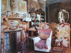 Charleston House in East Sussex home of the Bloomsbury group