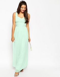 ASOS | ASOS WEDDING Ruched Panel Maxi Dress