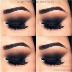 .@preanka_glam | Rocking a simple Black smokey eyes tonight. I used @motivesCosmetics eyeliner... | Webstagram