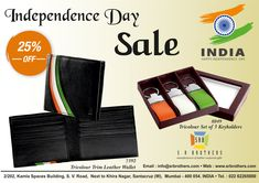 Pure Leather Wallet & Keychain at affordable pricing!  Khulke Shop Karo!  Special Offer for this Independence Day...... Email us for your corporate gift requirements at info@srbrothers.com & Visit our website www.srbleathergifts.com, www.hidepark.in  #quality #srbrothers #corporategifts #hidepark #saleoffer #dicounts #happyindependenceday