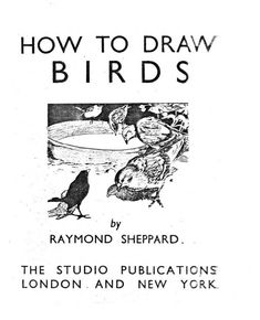 Sheppard, Raymond How To Draw Birds Published by The Studio Publications Ltd London Fourth Impression 1943 [First Edition Public Domain Books, Creative Activities, Art Activities, Nature Study, Bird Drawings, Pen And Paper, Art Studies, Pictures To Draw, Book Crafts