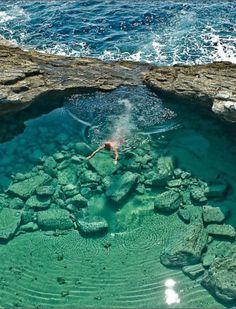 Giola Lagoon on Thassos Island, Greece