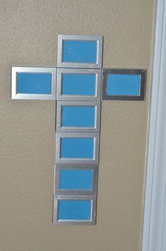 Tutorial: Make a Frame Cross...maybe put pics of Jesus or Bible verses inside the frames?