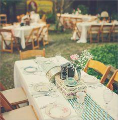 déco table mariage rétro romantique champêtre